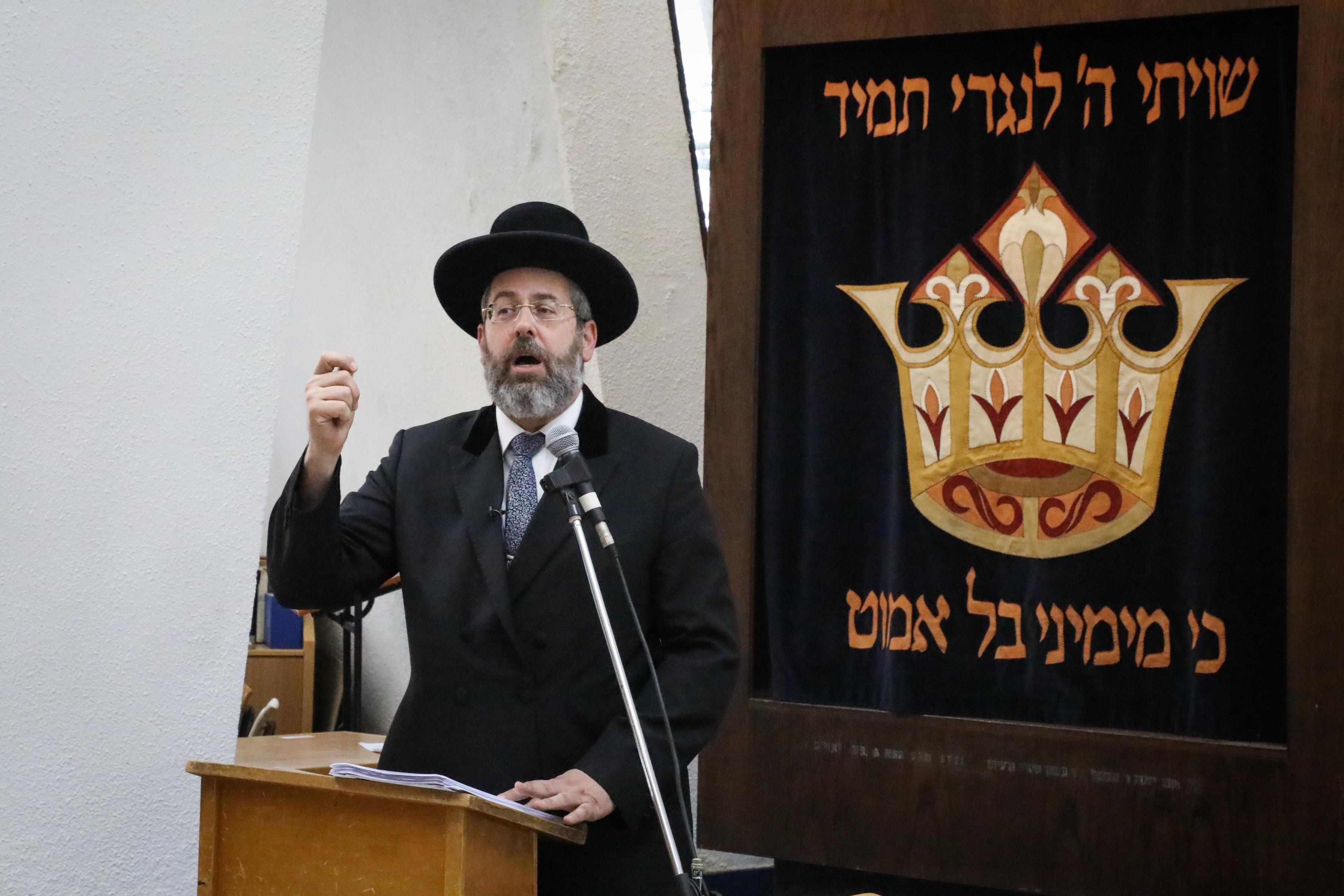 Chief Ashkenazi Rabbi David Lau. Flash90