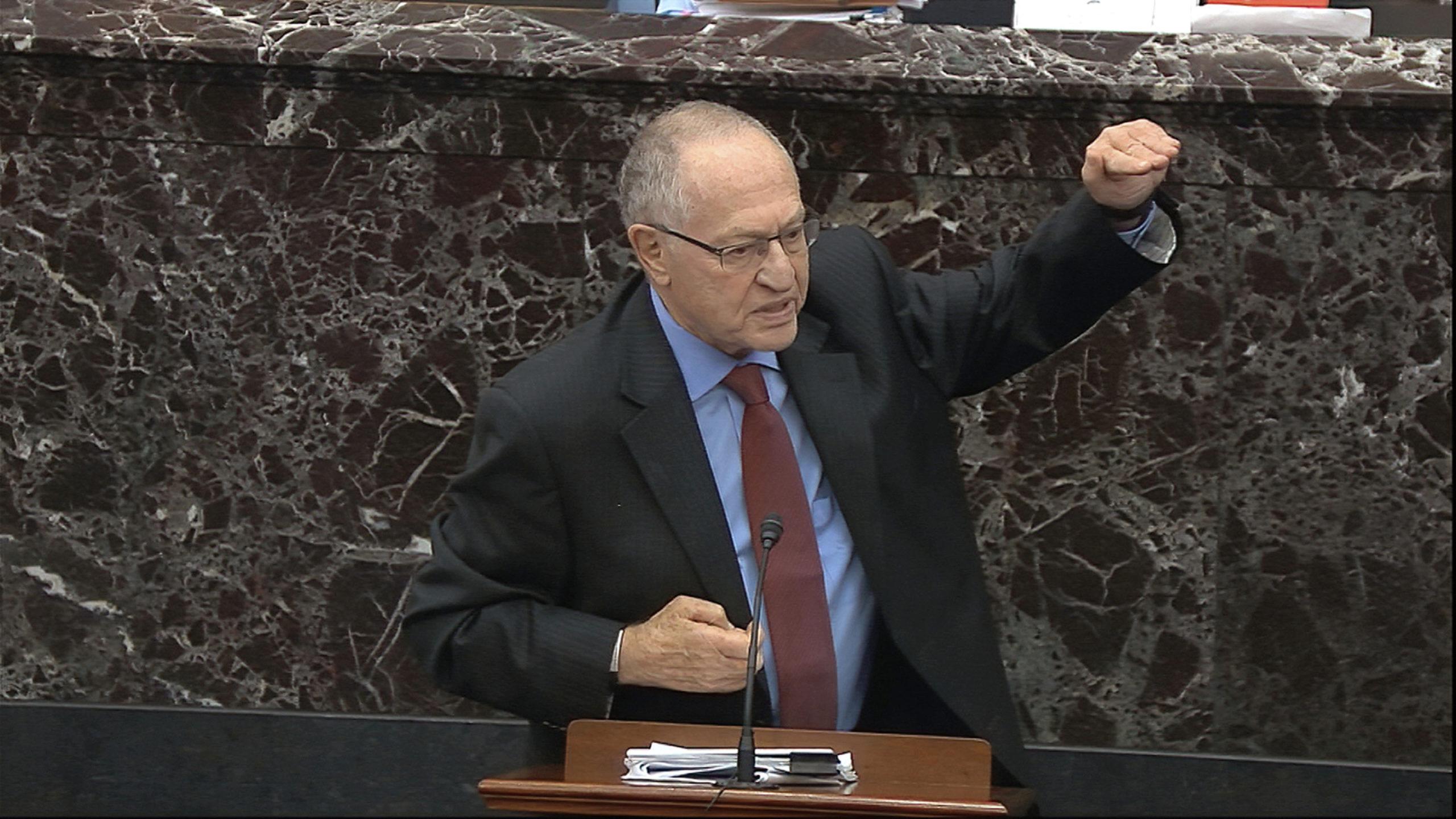 Dershowitz Says His Trump Impeachment Defense 'Distorted ...