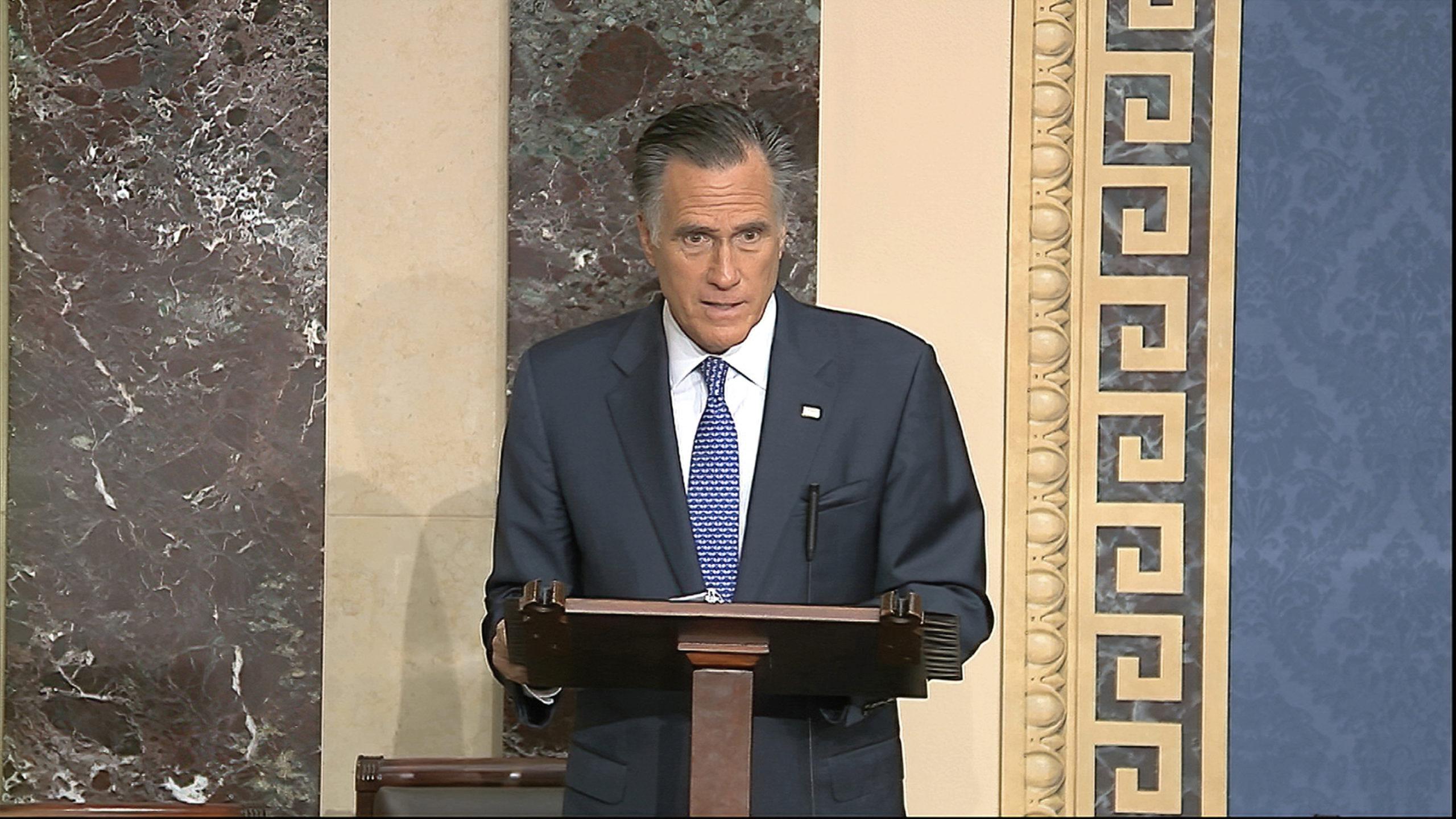 Sen. Romney Breaks With Gop, Will Vote To Convict Trump ...