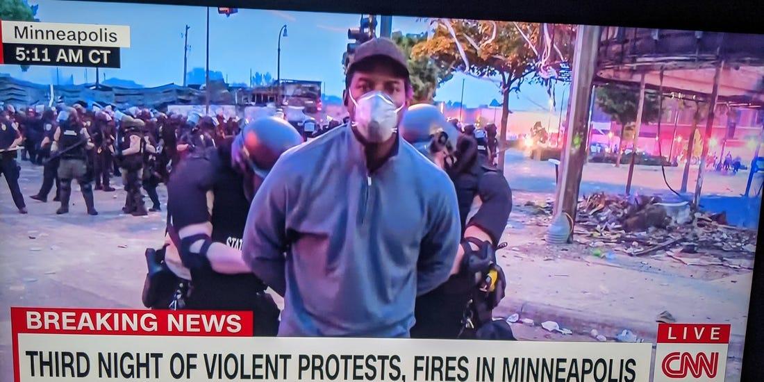 Aftermath of Floyd death drives news interest, notably CNN
