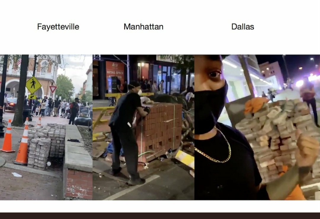 Pallets Of Bricks Strategically Placed On Protest Routes Stoking Violence But Who Placed Them Vos Iz Neias