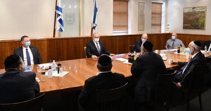 Chareidi MKs Meet With PM Netanyahu Over Discrimination And Police Brutality 1