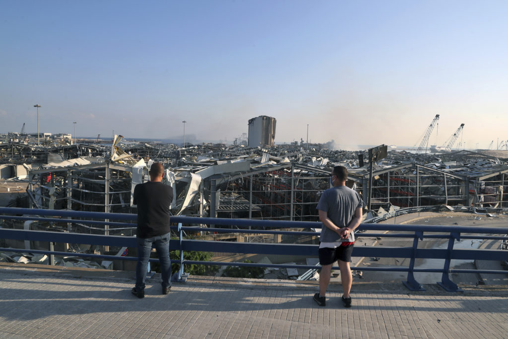 PHOTOS: Lebanese Confront Devastation After Massive Beirut Explosion 11