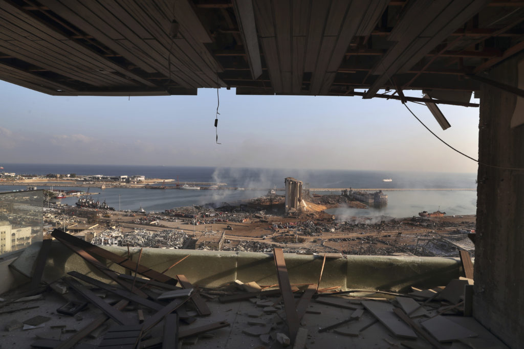 PHOTOS: Lebanese Confront Devastation After Massive Beirut Explosion 12