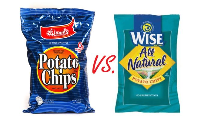Chareidi Potato Chips Versus Regular Chips 1