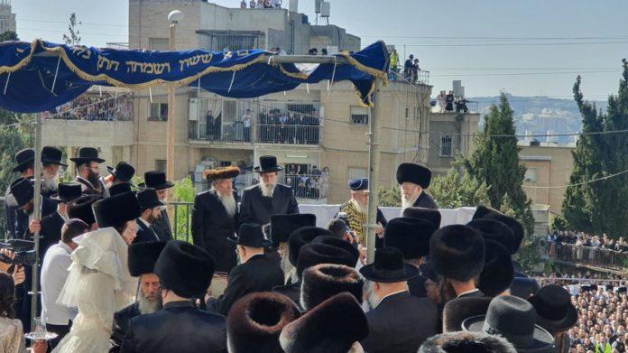 Watch: Gur Chasidim Celebrate Wedding Of Rebbe's Grandson 1