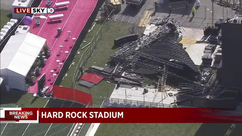Giant Screen Collapses Ahead Of Rolling Loud Music Festival