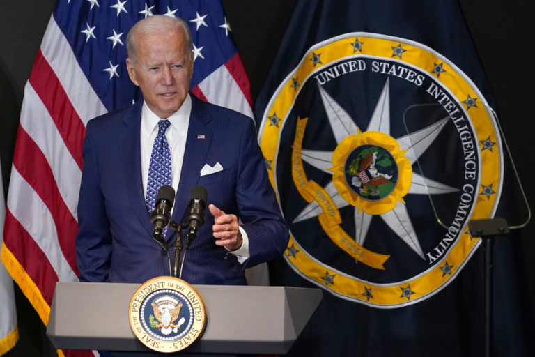 In 1st Visit To Intel Agency, Biden Warns Of Cyber Conflict